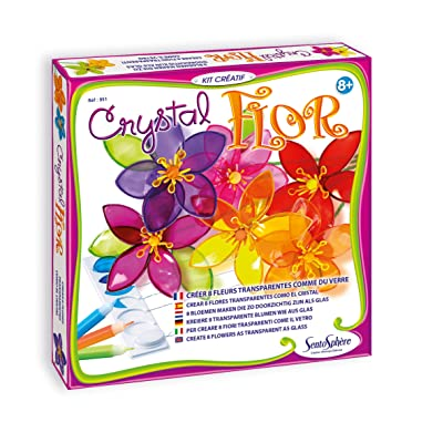 SentoSphere Crystal Flowers Craft Kit by: Toys & Games