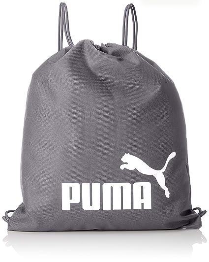 Puma Phase Gym Sack Bolsa De Cuerdas, Unisex Adulto, Quiet Shade White, OSFA