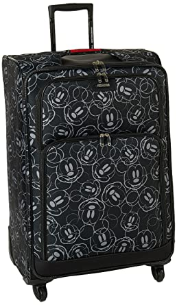 American Tourister Disney Mickey Mouse Multi-Face Softside Spinner 28, Multi, One Size