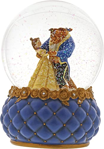 Enesco Disney Showcase Beauty Belle and Beast Stone Resin Waterball, 6.5 , Multicolor