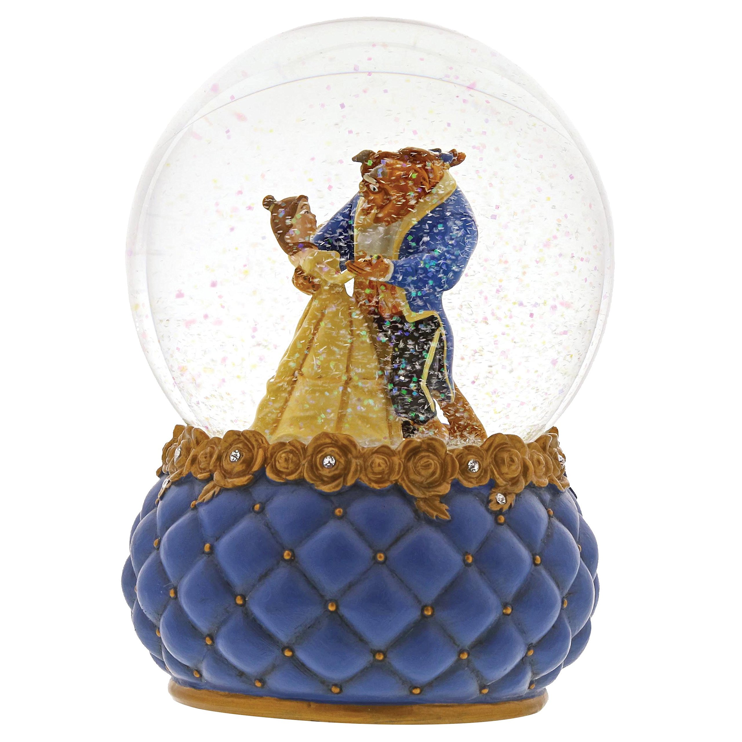 Enesco Disney Showcase ''Beauty Belle and Beast Stone Resin Waterball, 6.5'', Multicolor
