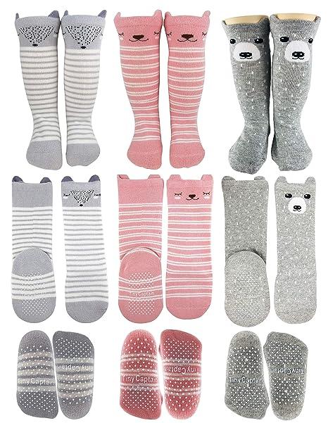 official site cheap price best quality Tiny Captain Baby Girl Knee High Long Socks Non Slip Toddler 8-24 Months  Anti Slip Leg Warmer Baby Knee Socks, Best Gifts for 1-3 Year Old Girl  (Pink, ...