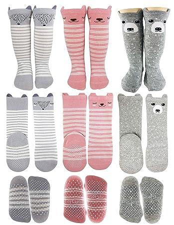 f24af18b4 Tiny Captain Baby Girl Knee High Long Socks Non Slip Toddler 12-36 Months  Anti