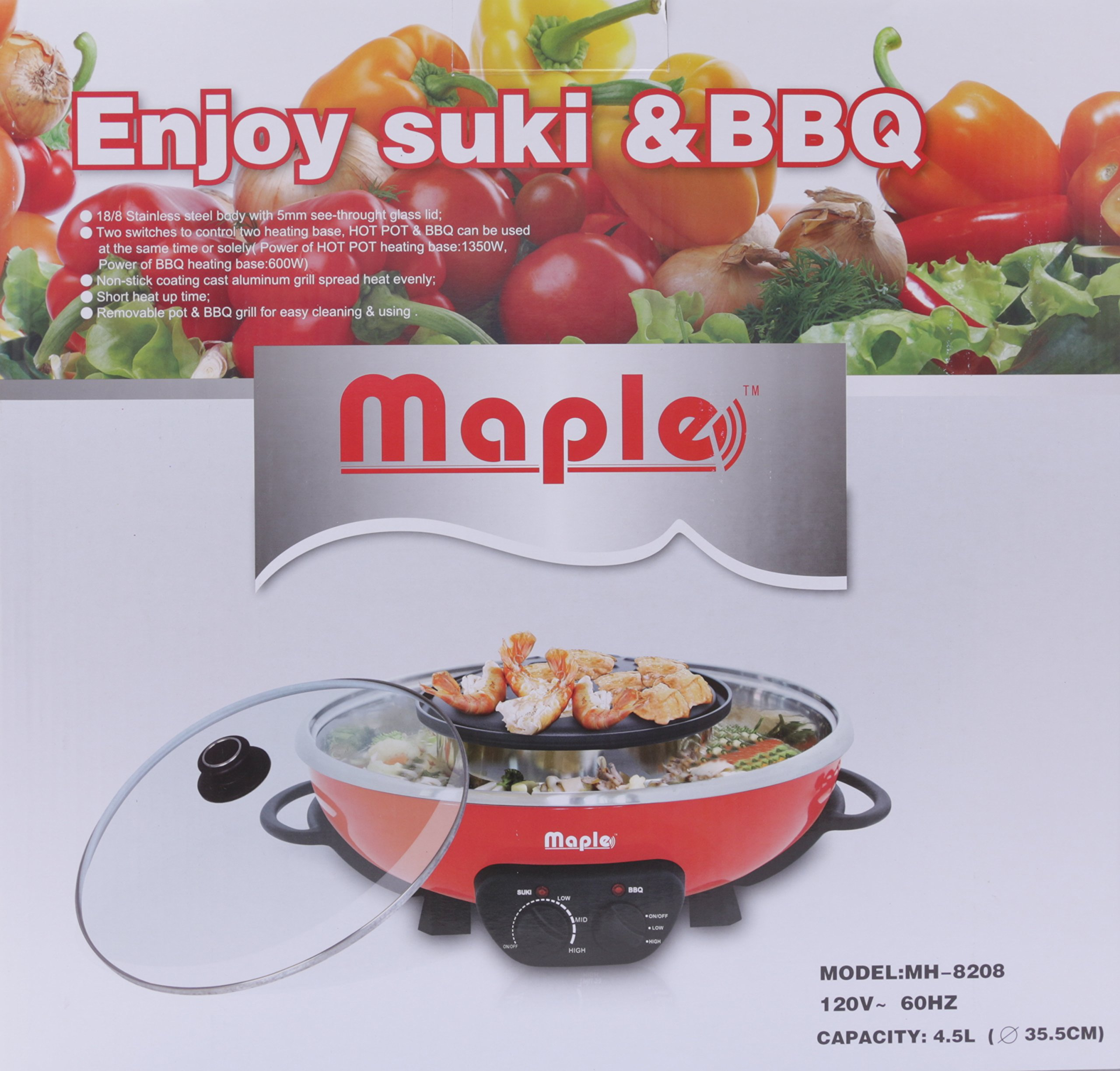Maple-Enjoy Suki & BBQ/ Hot Pot-MH8208 by Maple by Maple