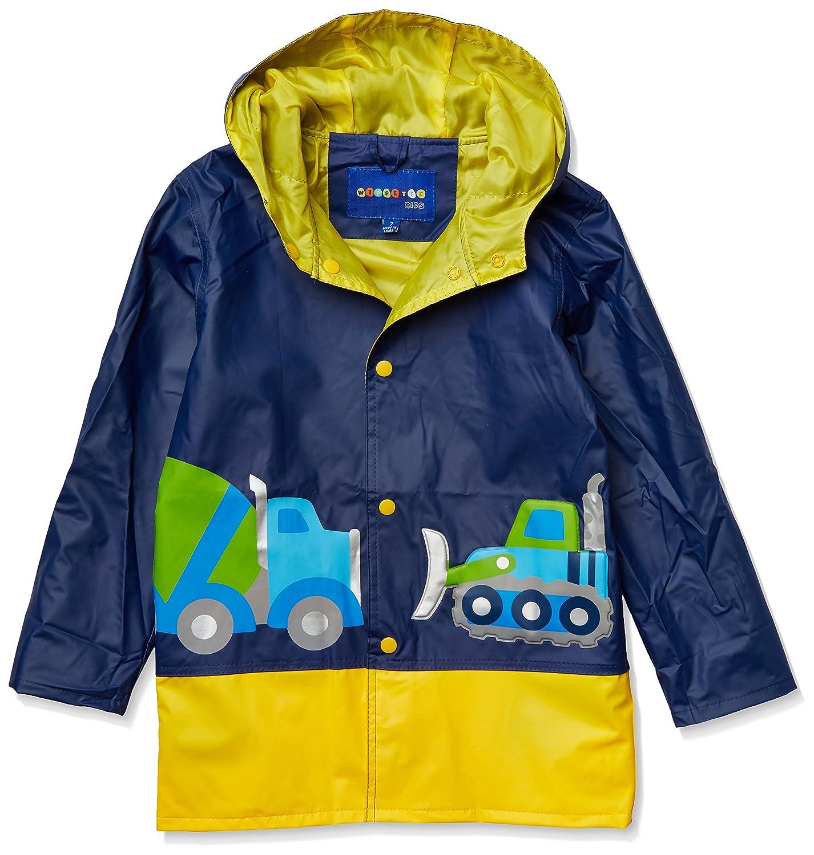 Wippette Boys' Toddler Matte Workzone Rain Jacket WB705135-NVY