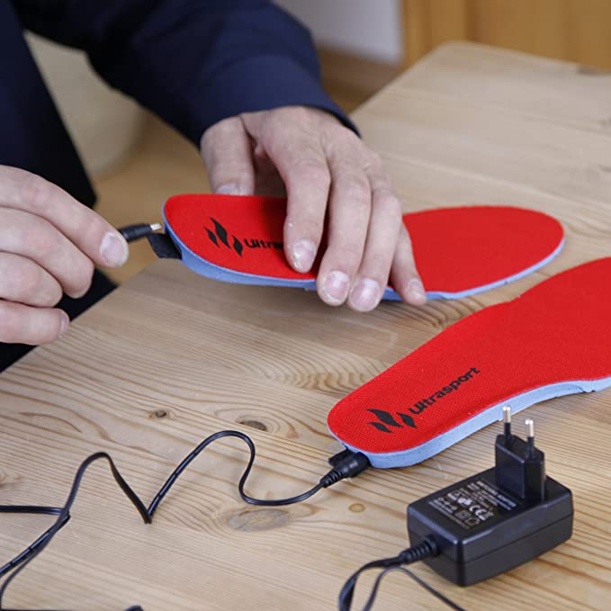 Ultrasport Action - Suelas calefactoras, color rojo, talla 35-40