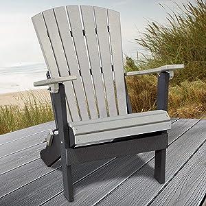 American Furniture Classics 519LGB Adirondack Chair, Light Gray