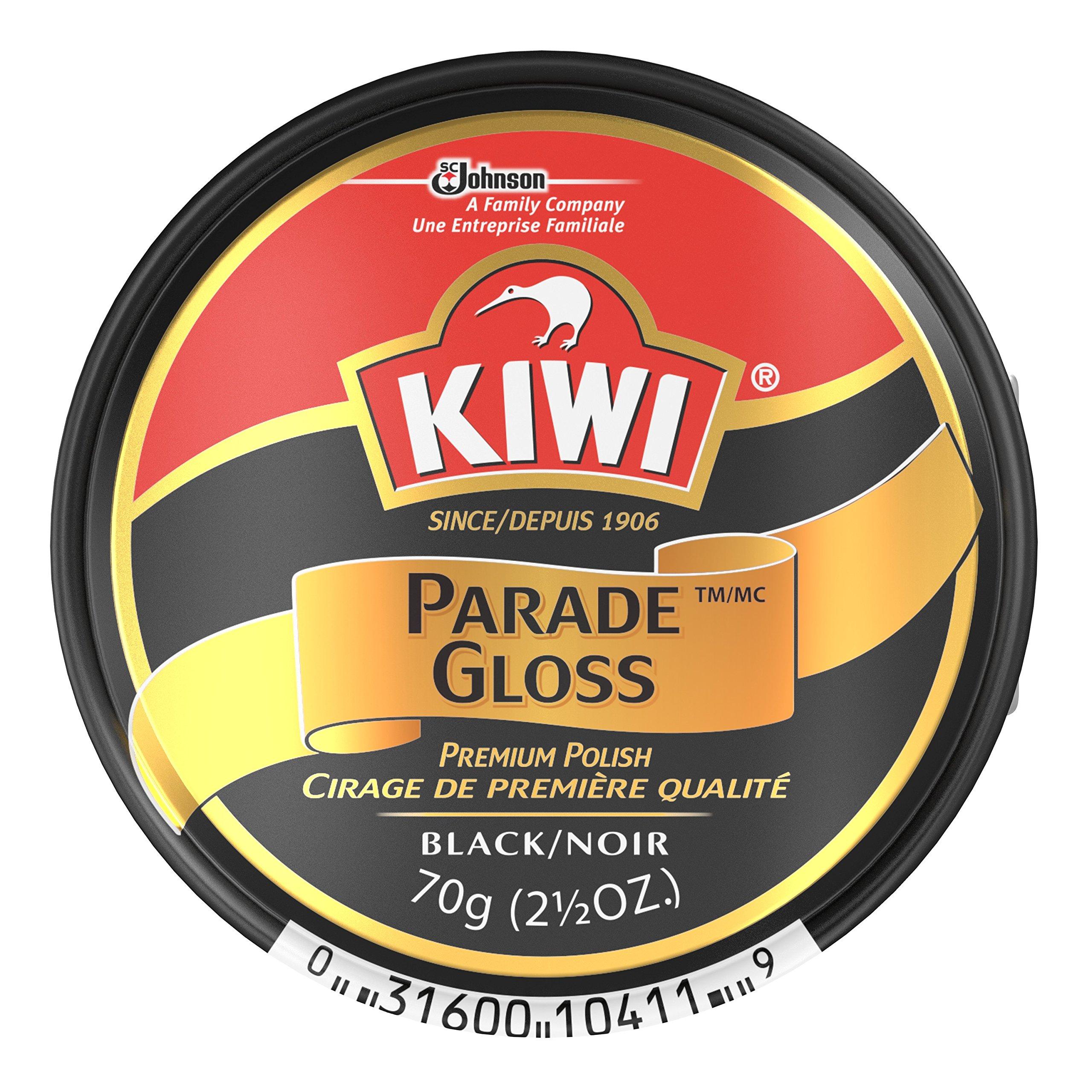 Kiwi Parade Gloss Shoe Polish - Black - 2.5 oz. - Large (Pack - 3)