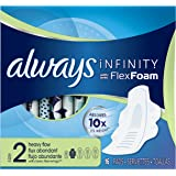Always Infinity Size 2 Pads with Wings, Super Absorbency,  Unscented, 16 ct, Packaging May Vary