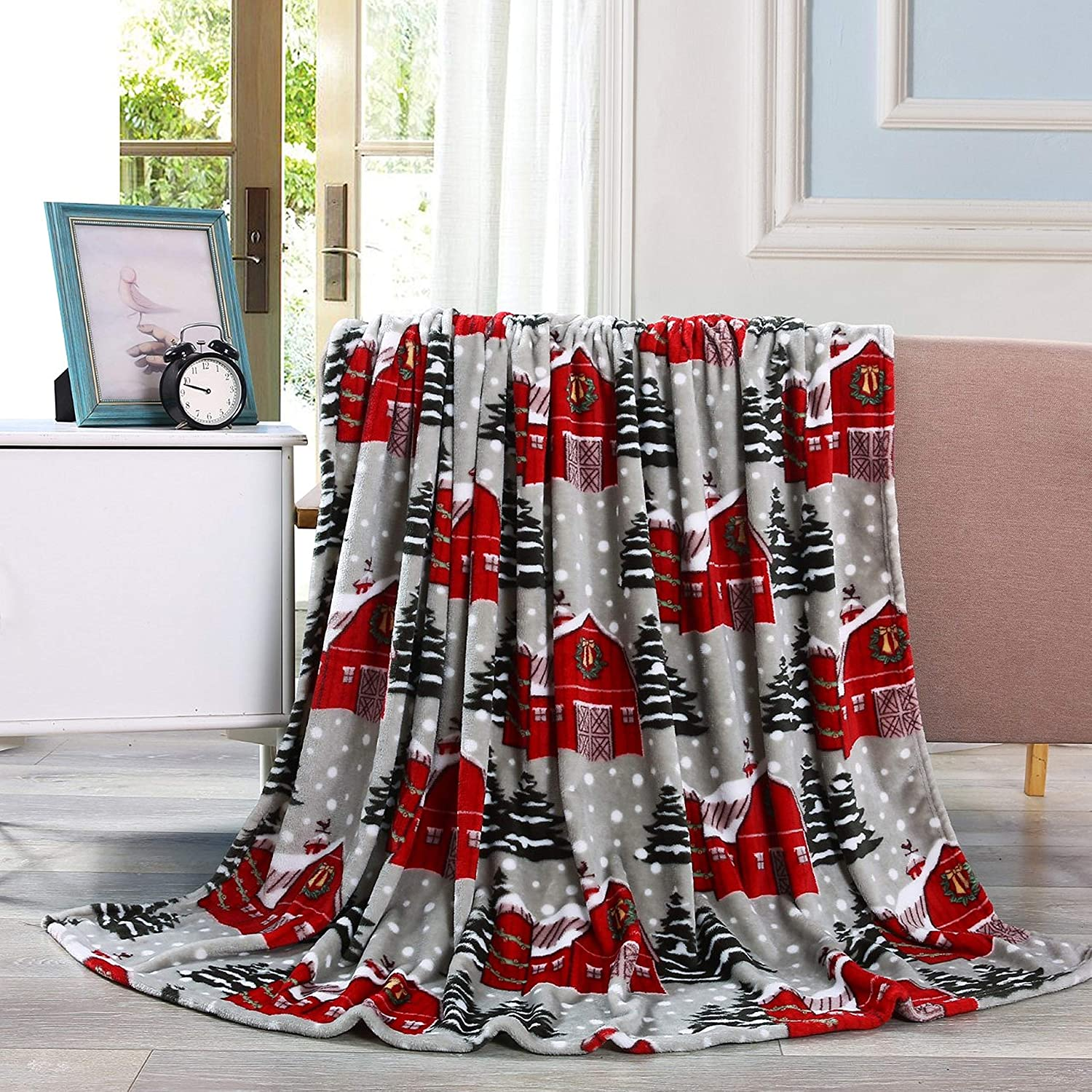 Blankets Quilts 50 X 60inch Cozy Holiday Printed Fleece Throw Blanket Warm Valerian Luxury Velvet Touch Ultra Plush Christmas Blanket Soft Home Dccbjagdalpur Com