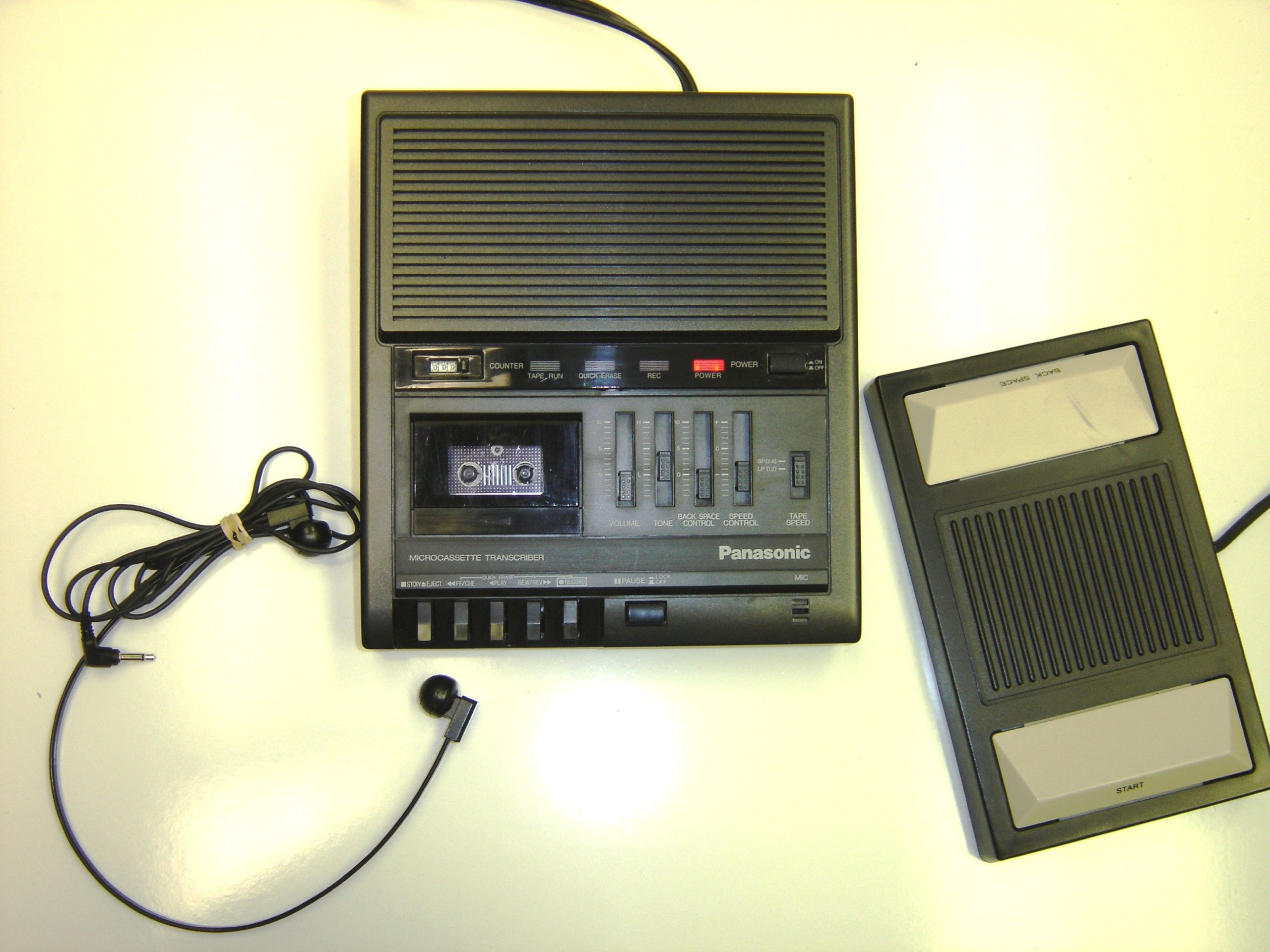 Panasonic RR-930 MicroCassette Transcriber by Panasonic by Panasonic