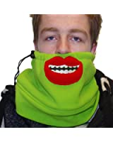 Moustache, Grin or Beard Neckwarmer Scarf - double thickness