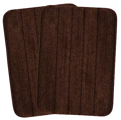 Saral Home Soft Microfiber Anti Slip Bath Mat (50x80cm, Brown)