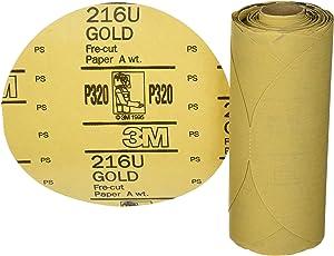 3M Stikit Gold Disc Roll, 01205, 6 in, P320, 75 discs per roll