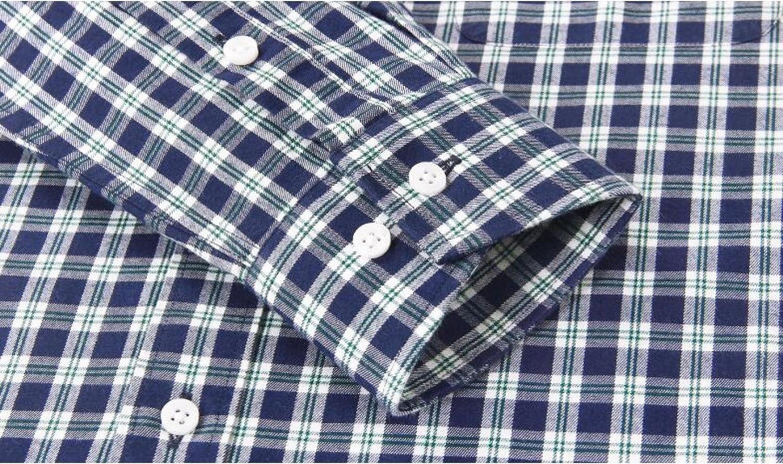 DFUCF Mens Plaid Shirt Classic Plaid Long-Sleeved Shirt Business Casual