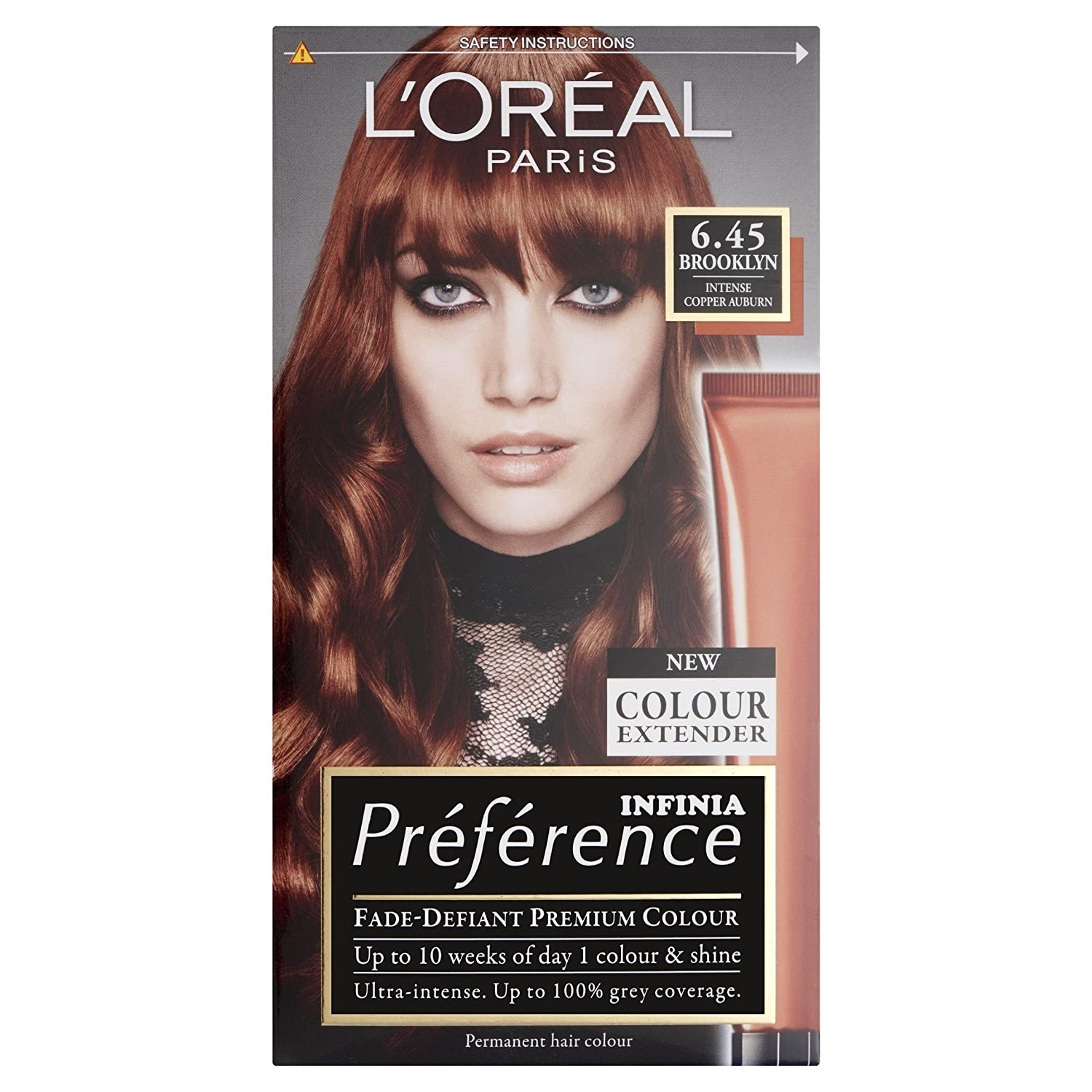 Preference Infinia Hair Dye 645 Brooklyn Intense Copper Auburn