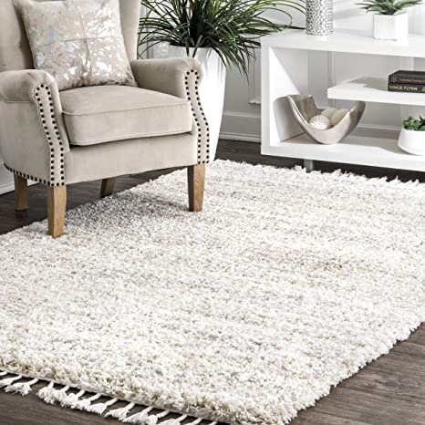 Amazon.com: nuLOOM Brooke Contemporary Shag Area Rug, 4' x 6', Ivory:  Furniture & Decor