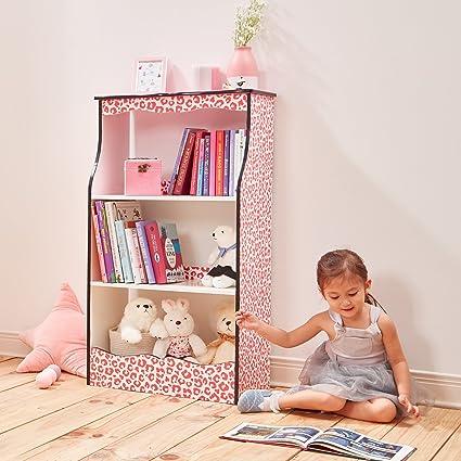 low priced 50c08 2e39c Amazon.com: Teamson Kids Fashion Prints Kids Bookshelf: Toys ...