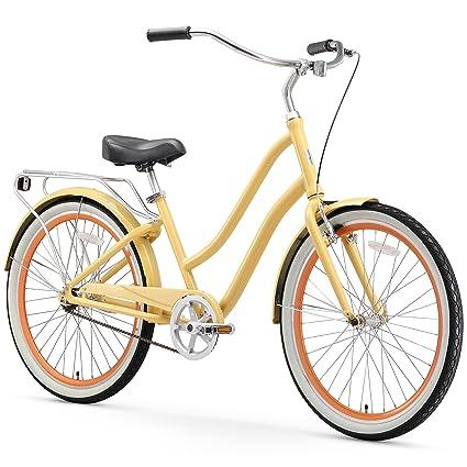 sixthreezero EVRYjourney Women s Single Speed Step-Through Hybrid Cruiser  Bicycle 367a151a2