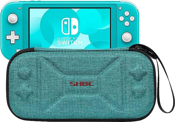 SHBC Funda de transporte duro Compatible con Nintendo Switch Lite Protector de almacenamiento portátil para Switch Lite y tarjetas de juego, Verde: Amazon.es: Videojuegos