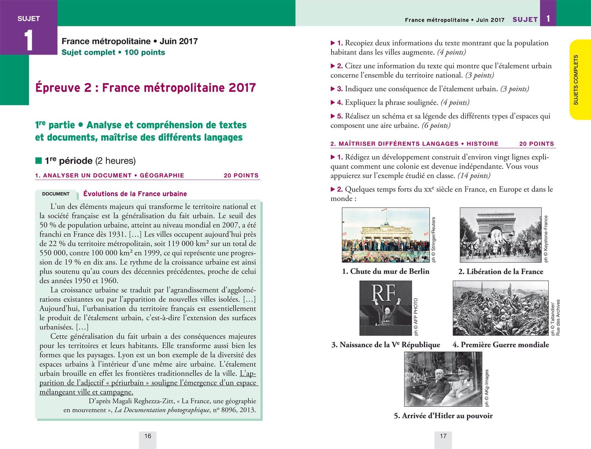 Annales Annabrevet 2018 Histoire Géographie EMC 3e: sujets et corrigés, nouveau brevet: Amazon.es: Christine Formond, Louise Taquechel, Marielle Chevallier, ...