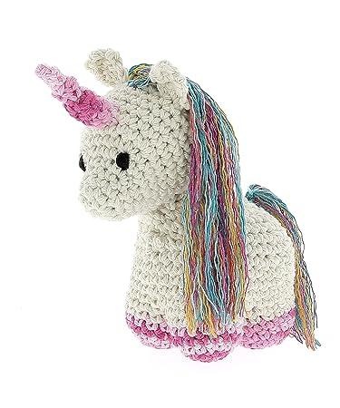 Hoooked Crafts Eco Crochet Knit Diy Box Geschenk Kit Nora Einhorn
