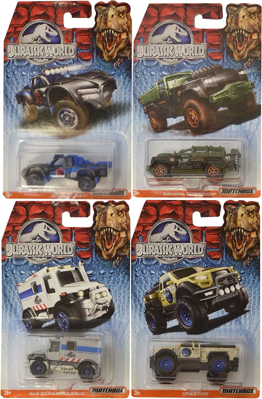 Matchbox Jurassic World Rock Shocker Die Cast Toy Vehicles 4 Pack Gift Set by Mattel: Amazon.es: Juguetes y juegos