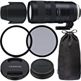Tamron SP 70-200mm f/2.8 Di VC USD G2 Lens for Nikon F with 77mm Ultraviolet (UV) Filter, 77mm Polarizing (C-PL) Filter…