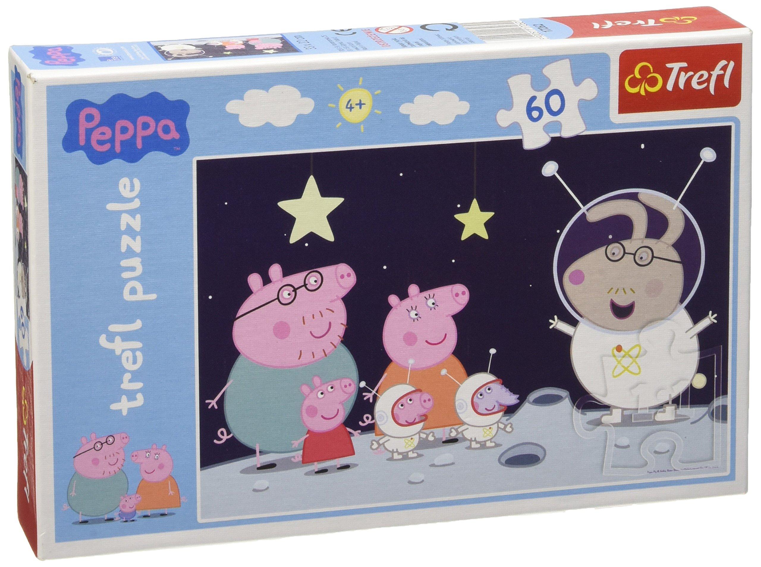 Swinka Peppa Puzzle 60 Podróz na Ksiezyc