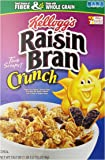 Kellogg's Raisin Bran Crunch, Breakfast Cereal, Original, Good Source of Fiber, 18.2 oz Box