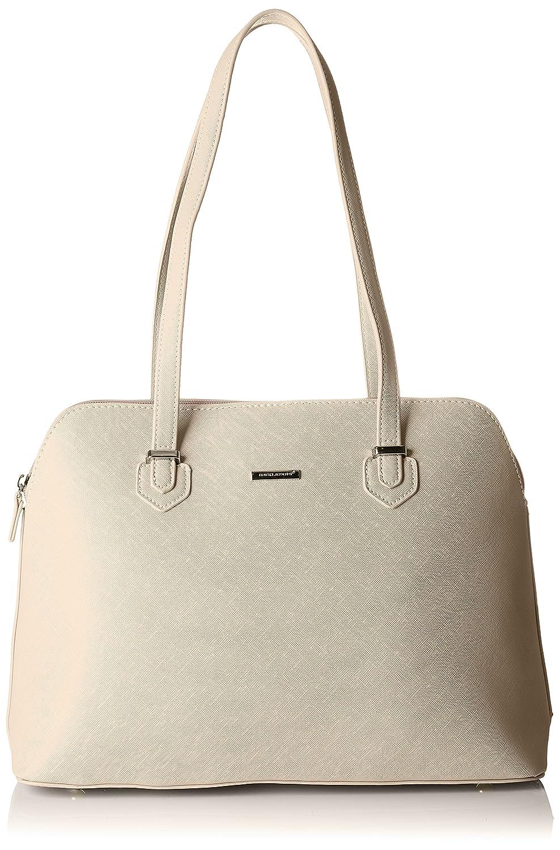 David Jones 5743-1 - Shoppers y bolsos de hombro Mujer David Jones - 5743-1 Beige (Creamy Grey) 13x26x35 cm (W x H L)