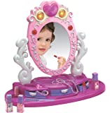 Dresser Vanity Beauty Set   Pink Princess Pretend Play Dressing Table Top Set with Makeup Mirror, Jewelry and Accessories   Music and Lights for Little Girls