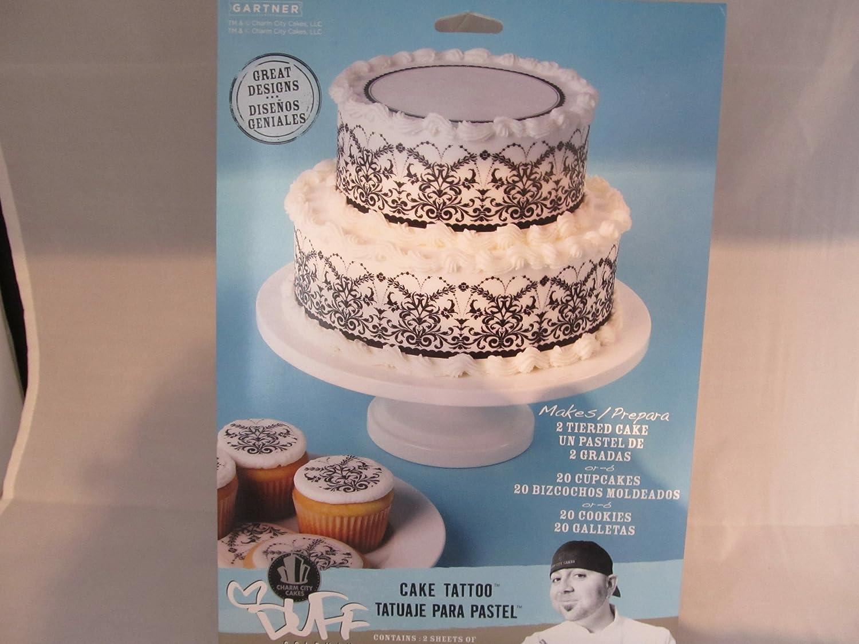 Amazon.com : Duff Goldman Cake Tatoo Elegant Black Wrap : Gourmet Food : Grocery & Gourmet Food