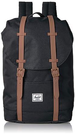 3a3084f5657 Herschel Kids' Retreat Youth Children's Backpack Black/Saddle Brown ...