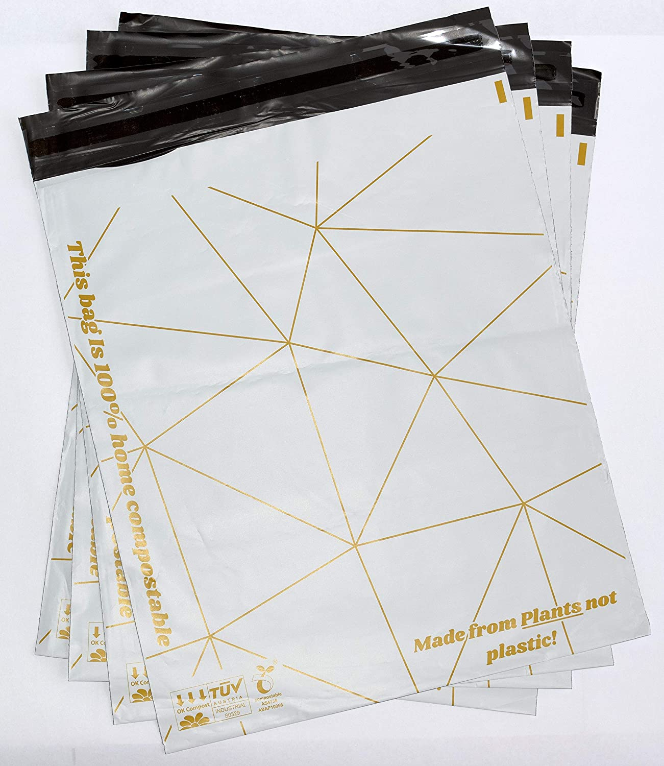 12.5x15in (50pcs) - Biodegradable Compostable Mailers - Eco-Friendly PolyBags/Mailer for Shipping - Small Business Packaging - Packaging Bags for Shipping