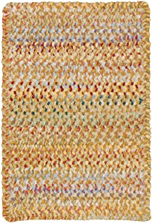 "product image for Capel Rugs Ocracoke Cross Sewn Rectangle Braided Area Rug, 8' 6"" x 8' 6"", Amber"