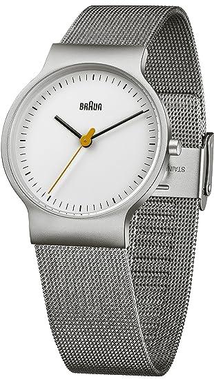 Braun Reloj analógico para Hombre de Cuarzo con Correa en Acero Inoxidable BN0211WHSLMHL: Amazon.es: Relojes