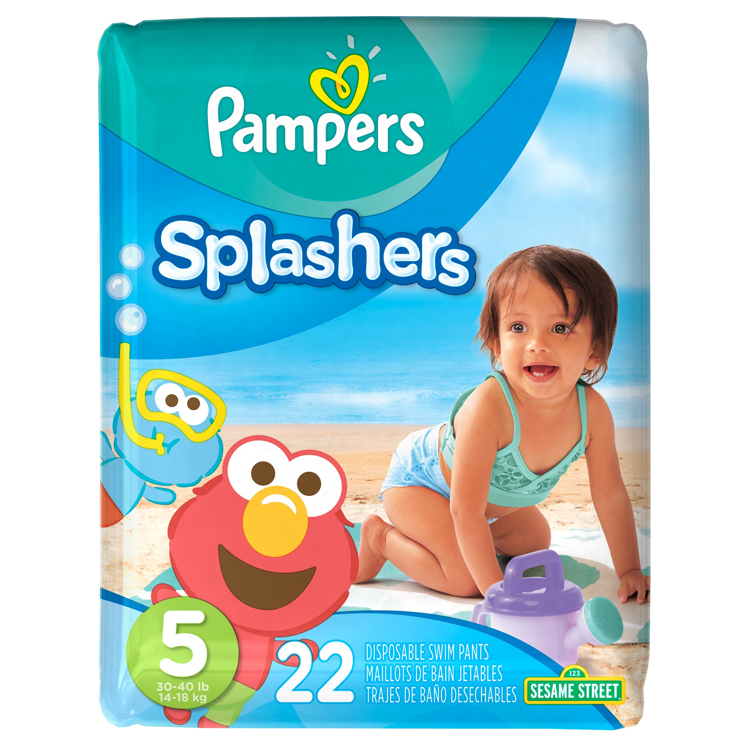 Amazon Com Pampers Splashers Disposable Swim Diapers