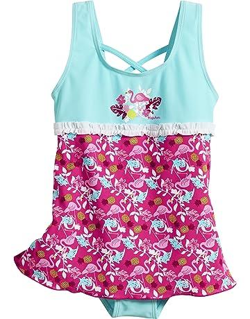 Playshoes UV-Schutz Badeanzug Mit Rock Flamingo, bañadores para Niñas