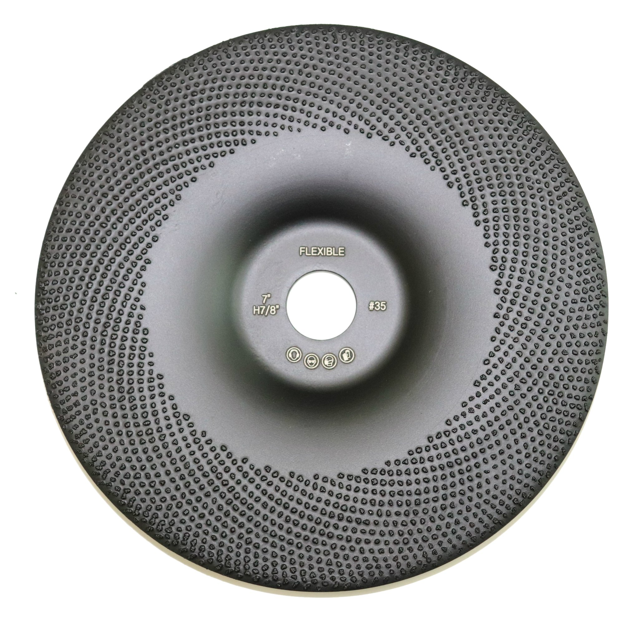 Flexible 7'' Diamond Cup Grinding Disc Wheel with RCD Newest Technology & Rubber Cushioned Body for Grinding & Polishing Universal Purpose (Flexible, 7'', 10.6 oz Very Light)