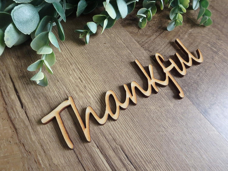 Thankful wood cutouts, fall plate decorations