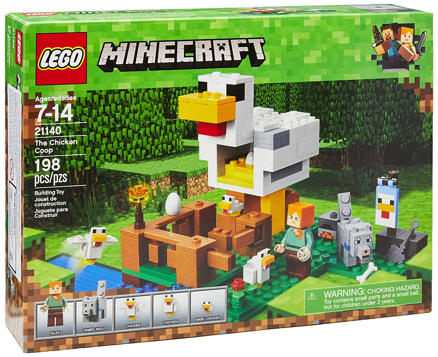 LEGO Minecraft The Chicken Coop 21140 Building Kit (198 Piece)