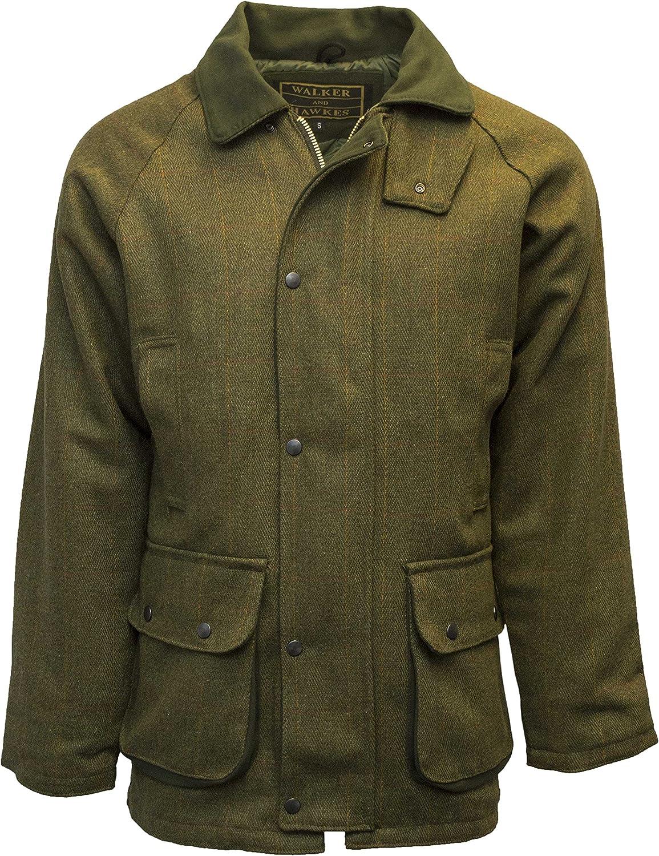 Walker and Hawkes - Chaqueta de Tweed para Hombre - Abrigo Inspirado en la hípica y la Caza