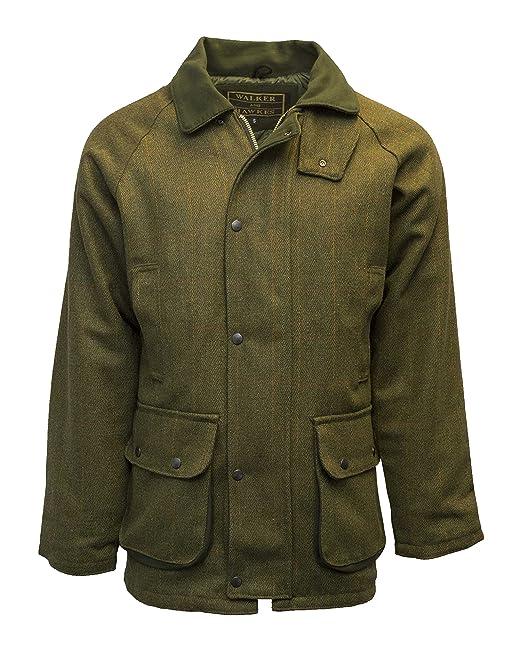 Chaqueta para hombre Walker & Hawkes, chaquetade caza, color salvia,