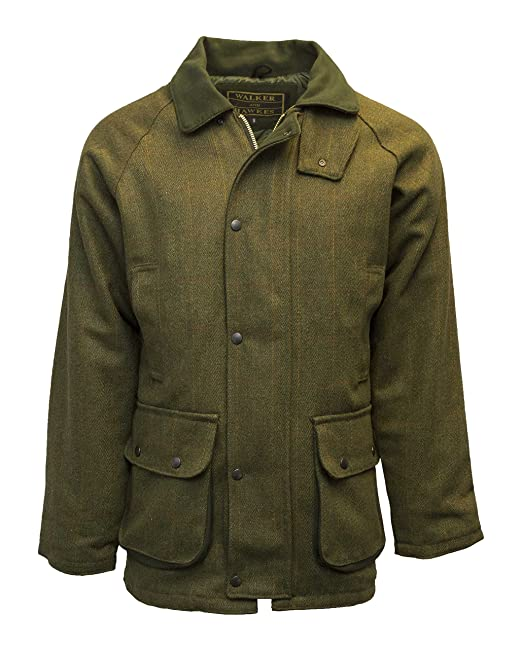 Chaqueta para hombre Walker & Hawkes, chaqueta de caza, color salvia