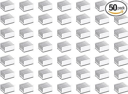 Mini Cooler Aluminum Heat Sink for Cooling VRM Stepper Driver MOSFET VRam Regulators 8.8mmx8.8mmx5mm Thermal Conductive Adhesive Tape BfyBest 30pcs Small Mini Heatsink Kit