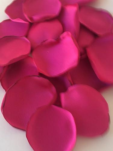 Amazon hot pink bright pink handmade satin fabric flower petals hot pink bright pink handmade satin fabric flower petals wedding toss flower girl mightylinksfo