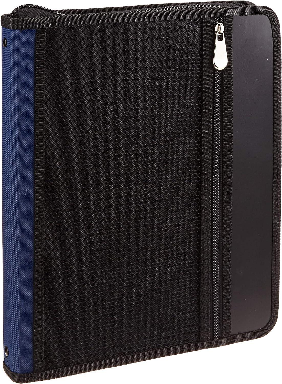 Campus University YP-Z649 - Carpeta de anillas 25 mm, con cremallera, A4, color azul