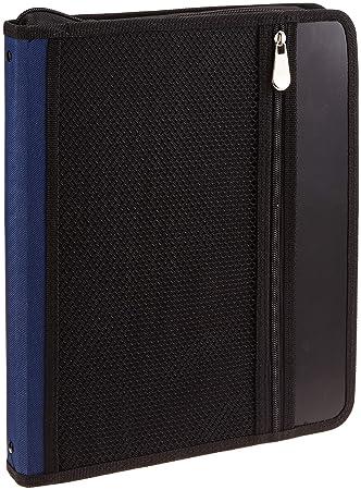 Campus University YP-Z649 - Carpeta de anillas 25 mm, con cremallera, A4, color azul: Amazon.es: Oficina y papelería