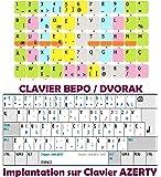 Sticker clavier autocollant BEPO / placement des doigts